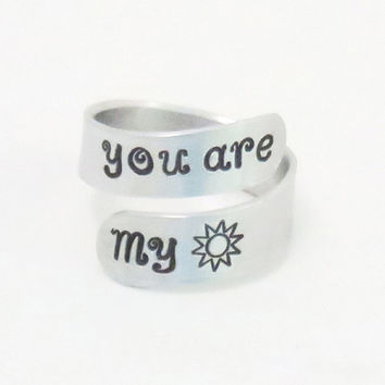 You are my sunshine ring - gift for mom - girlfriend gift - Grandma gift - grand-daughter gift - Sun ring - BFF gift - Boyfriend gift