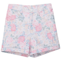 ROMWE | Rolled Cuffs Floral Shorts, The Latest Street Fashion