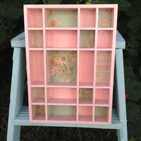 Vintage Shabby Cottage Retro Decorative Shadow Box Curio Wall Shelf Repurposed Upcycle