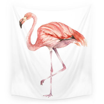 Society6 Pink Flamingo Wall Tapestry