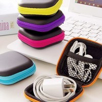 Random Color Earphone Storage Bag 1pc