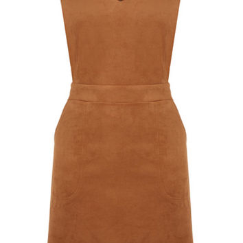 SUEDETTE V NECK DRESS