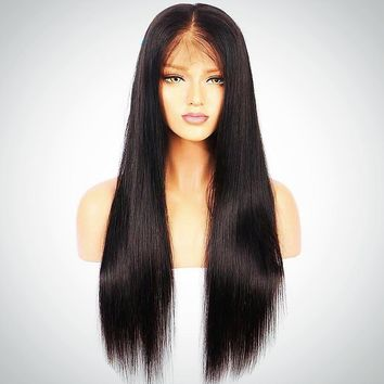 Straight Pre Plucked Full Lace Human Hair Wigs