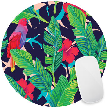 Hidden Parrots Mouse Pad Decal