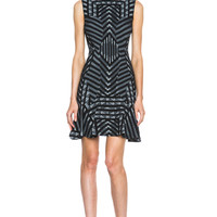 Carlie Wool-Blend Dress in Black & White