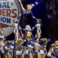 My heart beats in 8 count 🎀 @cheerleading_addicted pyramid 💙Instagram photo | Websta