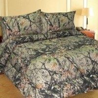 NATURAL FOREST CAMO MicroFiber Comforter Bed Spread -FULL-