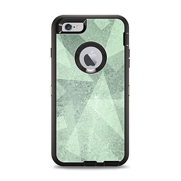 The Light Green with Translucent Shapes Apple iPhone 6 Plus Otterbox Defender Case Skin Set