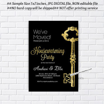 housewarming invitation, key, party invites, New house KEY design Invitation Card | We have moved Invitation Card Design - card 305