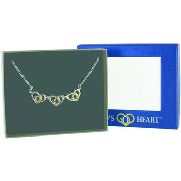 Triple Gods Heart Necklace