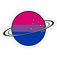 'bi planet' Sticker by anna-2