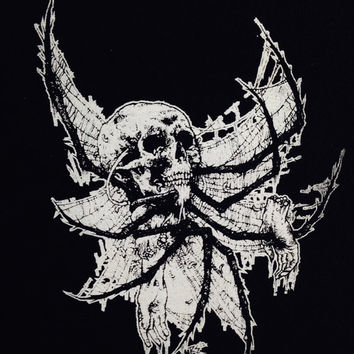 Skull Spider Back Patch, Punk Patch, Horror, Black