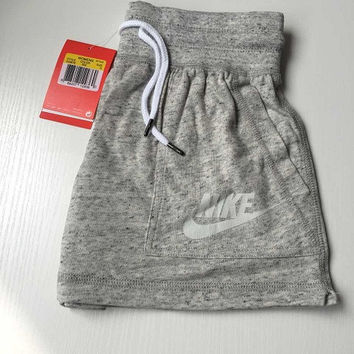 NIKE Like Fashion Print Exercise Fitness Gym Yoga Running Shorts  Item Type: Shorts Material: Cotton/Polyester Pattern: Print Color: Dark gray Size: S,M,L,XL