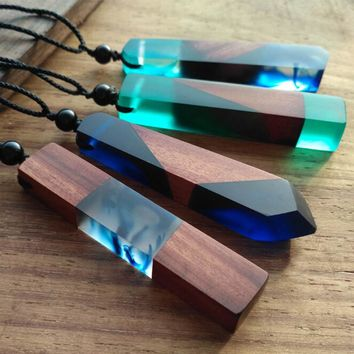 Handmade Minimalist Calming Necklaces - Wood Resin