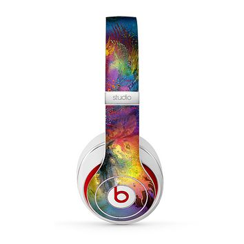The Mixed Neon Paint Skin for the Beats by Dre Studio (2013+ Version) Headphones
