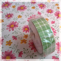 MT tape, green scotch pattern washi tape