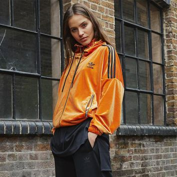 adidas Originals 3 Stripes Velvet Jacket