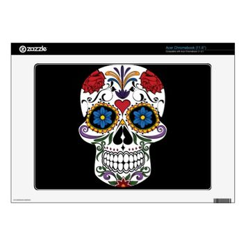 Colorful Sugar Skull Acer Chromebook Skin