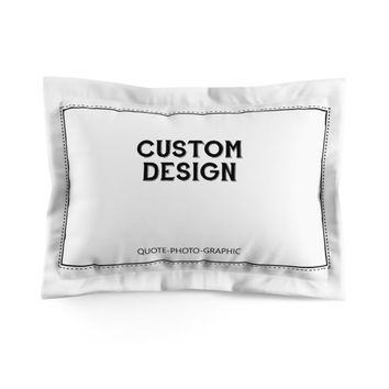 Personalized Microfiber Pillow Sham  Custom Design Pillow