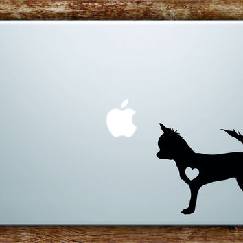 Dog Heart V4 Laptop Apple Macbook Quote Wall Decal Sticker Art Vinyl Car Window Animals Puppy Love Chihuahua