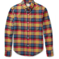 Band of Outsiders Check Cotton-Flannel Shirt | MR PORTER