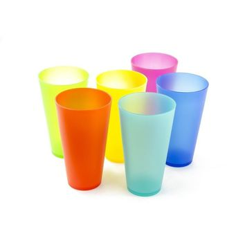 6 Pack Colorful Reusable Party Cups - Cute Picnic Drinkware | Overstock.com Shopping - The Best Deals on Tumblers
