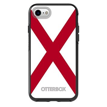 DistinctInk™ OtterBox Symmetry Series Case for Apple iPhone or Samsung Galaxy - Alabama State Flag