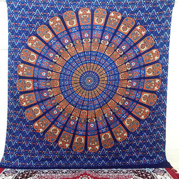 LARGE Indian Mandala Wall Hanging Tapestry Tapestries Hippie Bohemian Bedding Throw Bedspread ethnic mandala home decor