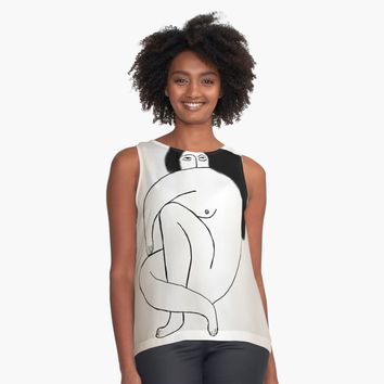 'Nude 21' Contrast Tank by BillOwenArt