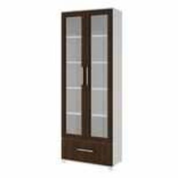 Accentuations by Manhattan Comfort Serra 1.0- 5- Shelf Bookcase in  White and Tobacco
