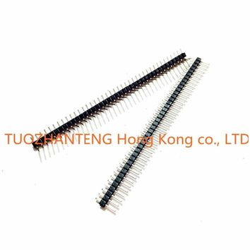 10pcs 1x40 Double row spacing of 2.54 MM curved needle +10pcs 1x40 Single Row Male 2.54 Breakable Pin Header