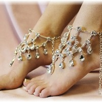 SJ5 Chandelier Shoe Jewels Crystal Clear Drops