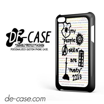 Herlock Supernatural And Dean And Cas DEAL-5261 Apple Phonecase Cover For Ipod Touch 4