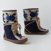 Hallam Moccasin Boots by F-Troupe Blue 38 Euro Boots