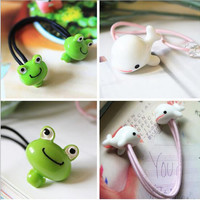 New Arrival styling tools cute Frog Beluga elastic hair bands hair accessories for women girl children make you fashion