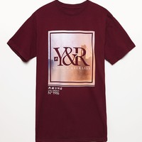 Young & Reckless Core Sky T-Shirt - Mens Tee - Maroon