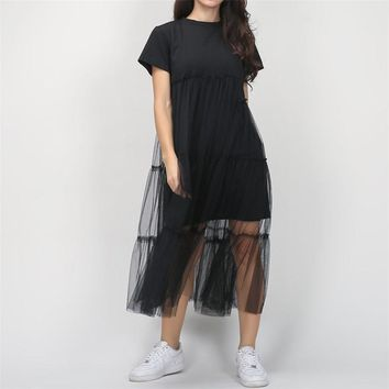 Stylish Women dress Casual short sleeve round neck solid Evening Party Ball Prom summer Gown Cotton Dresses one pieces