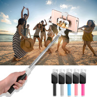 Fashion Mirror Selfie Stick For iphone 7 6 6s Samsung IOS Android Monopod Universal Mini Portable Folded Wired Phone Self Sticks