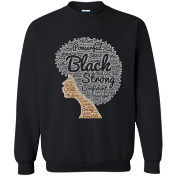 Black History Month Afro Word Art Natural Hair T-Shirt