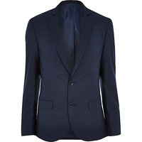 River Island MensBlue tailored slim suit jacket