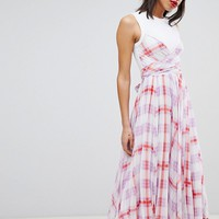 Sportmax Code Check Midi Dress at asos.com