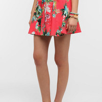 Urban Outfitters - Fire Tropical Woven Skater Skirt