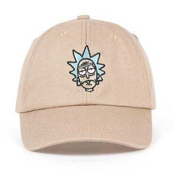 Trendy Winter Jacket High quality Rick and Morty New Dad Hat Crazy Rick Baseball Cap American Anime Cotton Embroidery Snapback Anime lovers Caps AT_92_12