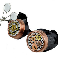Mechanical Dual Loupe Steampunk Goggles Cosplay Glasses