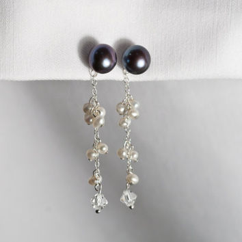 Magnetic Clip-On 8mm Freshwater Pearl Earrings by KAntikoy