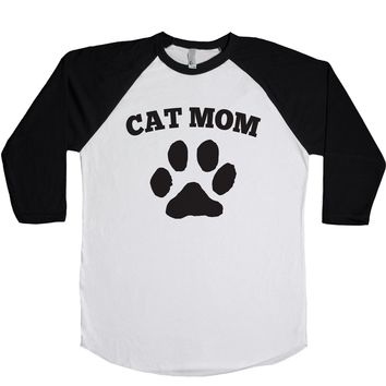 Cat Mom Unisex Baseball Tee