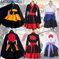Naruto Sasauke ninja Customized  Cosplay Costume Uzumaki  Lolita Clothes Suit Uchiha Sasuke Kimono Dress Akatsuki Lolita Dress for Women AT_81_8