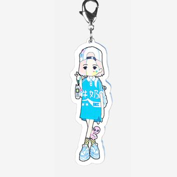 Sporty Girl keychain