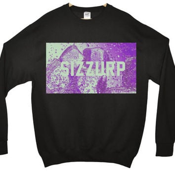 SIZZURP fashion indie dope swag retro jumper sweater Front Print SWEATSHIRT