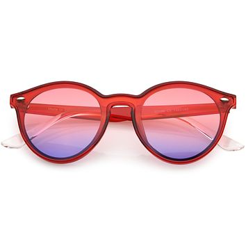 Retro Round P3 Horned Rim Color Tone Sunglasses C932